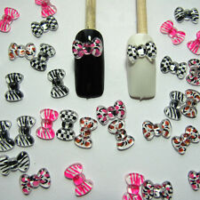 Nail Art 3d 50 Mix Print BOW /RHInESTONE For Nails, CellPhones A+
