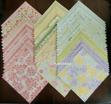 """LOT of 60 Sheets of 12"""" x 12"""" Scrapbook Paper from DCWV THE FRESH FLORAL STACK"""