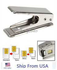 Stainless Iron Nano Sim Card Cutter for Apple iPhone 5 5G  + 2 Adapter USA