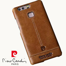 PIERRE CARDIN Genuine Leather Cover Hard Back Case For Huawei P9 Free Shipping