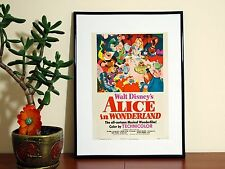 Alice in Wonderland Vintage Disney - A4 Glossy Poster - FREE Shipping