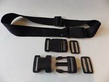 5 x Plastic Side Release Buckles & 5 x Slides For 38mm Webbing