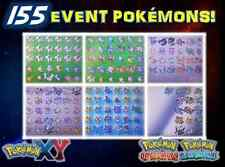 155 POKÉMON EVENTS! ORAS XY WITH SHINYS, VOLCANION LEGENDARIES MEW AND MORE!