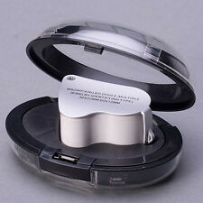 30X 60X Glass Magnifying Magnifier Jeweler Eye Jewelry Loupe Loop Led Light