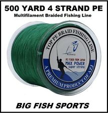 500M / 80LB Super Strong 4 Strand Pro PE Power Braided Fishing Line 500 YD NEW!