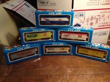 Vtg lot 6 Life-Like HO Scale Train Cars Beer Reefer Boxcars Miller Pabst Olympia