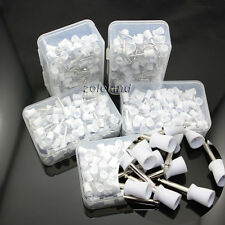 500 PCS Dental Latch Polisher Type Polishing Prophy Cup Tooth Bowl White Brushes