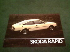 March 1984 SKODA RAPID COUPE 1174cc - UK LEAFLET BROCHURE Estelle