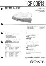 Sony Original Service Manual per ICF-CD 513