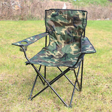 OUTDOOR CAMPING CHAIR - WOODLAND CAMO - Folding Portable Fishing Beach Seat