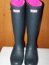 Hunter Women's Original Expandable Calf Tall Boots Black/Pink SIZE US 10 EU 43