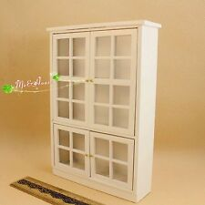 1:12 miniature dollhouse  fitting white bookcase cupboard  Puppenhaus