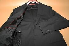 #43 Hugo Boss Amaro Heise Red Label Black Suit Size 40 R