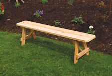 Outdoor 6 Foot Traditional Picnic BENCH ONLY !! *Unfinished Pine* Amish Made USA
