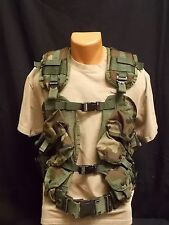 Military Issue 6 Mag Enhanced Tactical Load Bearing Vest w/ Large Web Belt