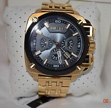 DIESEL Gold Tone BAMF Men's Watch DZ7378 New In Box NWT! Chronograph Steel