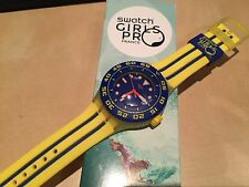 "NEW SWATCH GIRLS PRO FRANCE SPECIAL ""PLAYERO"" WATCH SUUJ400D MENS/LADIES"