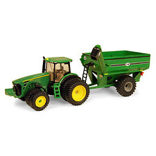 NEW JOHN DEERE 1/64TH SCALE 8320R  TRACTOR WITH J&M GRAVITY CART (TBE45236)