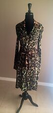 "Rare! Diane Von Furstenberg ""Jeanne""  Animal Print Wrap Dress Sz10"