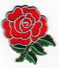 Iron On/ Sew On Embroidered Patch Badge Rose Flower Red Roses Bud Red