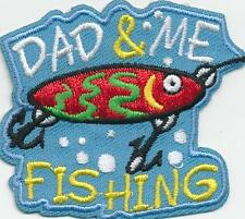 Girl Boy Cub DAD & ME FISHING trip Fun Patches Crests Badge SCOUT GUIDE tour Day