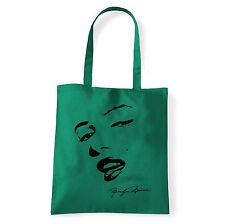 Art T-shirt, Borsa shoulder Marilyn Monroe Sign, Verde, Shopper, Mare