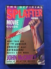 THE OFFICIAL SPLATTER MOVIE GUIDE - FIRST EDITION SIGNED BY TOM SAVINI