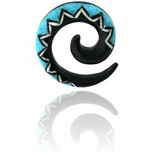BONE & HORN 6g (4MM) SPIRALS PLUGS TRIBAL INLAYED
