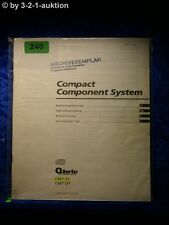 Sony Bedienungsanleitung CMT T1 / D1 Compact Component System (#0240)