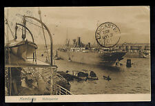 1907  Germany Picture Postcard Cover to Lancaster England Hamburg Harbor Ships