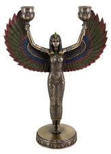 Egyptian Isis Ancient Winged Goddess Candelabra Candleabra Altar Statue #3280