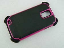 For SAMSUNG GALAXY S II 2 T989 Hybrid HARD/SILICONE Combo Case COVER hpk