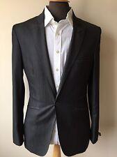 * nouveau * ted baker veste de tailleur/blazer, gris foncé, taille 36R rrp £ 160 * fashion *