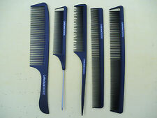 5 pieces of Carbon Anti Static combs PROFESSIONAL HAIR CUT TOOLS New!