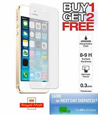 BUY 1 GET 2 FREE Tempered Glass Screen Protector For Apple Iphone 5/ 5c/ 5s /SE