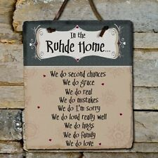 Personalized In Our Home Family Name Slate Wall Plaque Family Name House Sign