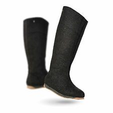 EMU HAMITON HI CHARCOAL WOOL 14 HIGH BOOTS SHOES SIZE 8 42 US 10 NEW!!!