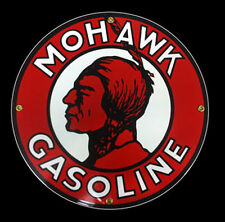 Mohawk Gasoline Porcelain Sign