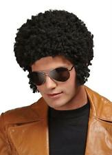 BLACK SHORT AFRO TIGHT CURLY WIG WITH SIDEBURNS COSTUME DRESS MR176008