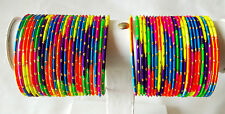 Indian Traditional Ethnic 48pcs Multi Color Bridal Bangle Set Jewelry 2.6.