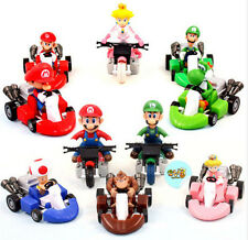 """New Set of 10pcs Super Mario Bros 2"""" Kart Pull Back Car Figure kid's toy gifts"""
