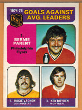 1975-76 , OPC , O-PEE-CHEE , GOALS AGAINST LEADERS , CARD #213