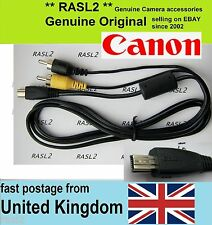 Genuine Original Canon AV cable IXUS 500 1000 1100 HS Powershot A4000 iS A810