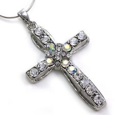 Clear Cross Charm Crystal Rhinestone Necklace Pendant 5