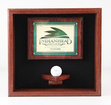 Golf Ball Scorecard Display Case #1730  --MADE IN WISCONSIN--