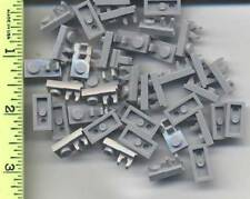 LEGO x 60 Light Bluish Gray Plate, Modified 1 x 2 with Clip on Top NEW
