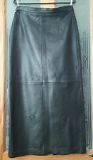 Designer GERRY WEBER . Ladies long black Nappa leather skirt , size 14 .