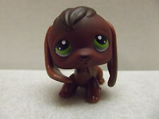 LITTLEST PET SHOP LPS BROWN BEAGLE PUPPY DOG GREEN EYES #77 RARE HTF