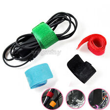 Colors! 30X Wire Cable Cord Ties Organizer Strap for PC TV DVD Table Video Audio