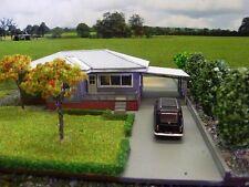 AUSTRALIAN 1950's Style Weatherboard House 23x13cm HO 1/87 scale Wooden kit MTB